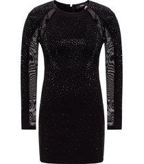-kristal versierde jurk