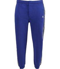 logo tape tracksuit pants, royal blue