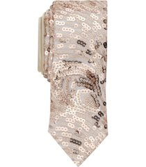 inc men's skinny sequin swirl tie, created for macy's