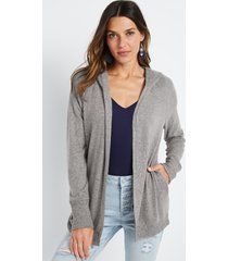 maurices womens gray hooded cardigan