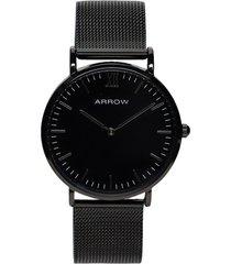 reloj formal negro arrow