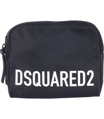 dsquared2 logo printed pouch