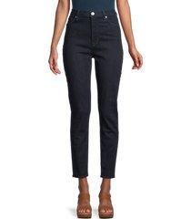 hudson women's blair high-rise super skinny jeans - lucky - size 26 (2-4)