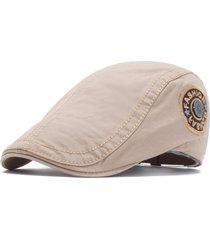 cappello da berretto casual da uomo in cotone vintage con ricamo da uomo