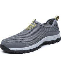 sneakers slip-on in mesh