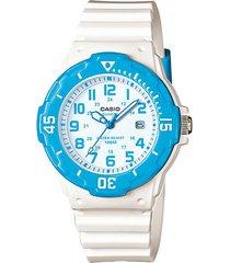reloj casio mujer lrw-200h-2e resistencia al agua 100 metros - azul