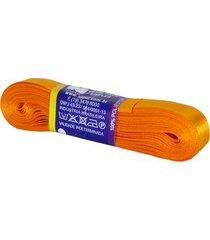 fita de cetim nº03 15mm peça com 10m laranja cerâmica