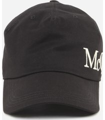 alexander mcqueen cotton baseball cap with embroidered logo
