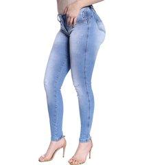 calça skinny zigma luz azul - tricae