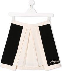 elisabetta franchi la mia bambina teen pleated mini skirt - black