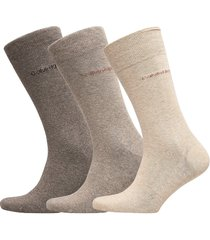 ck 3pk eric cotton 003 underwear socks regular socks beige calvin klein