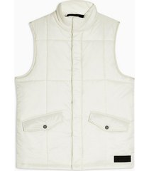 mens topman ltd stone quilted gilet