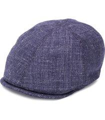 corneliani woven-style beret - blue