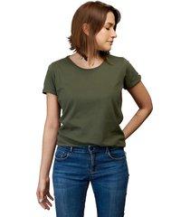 camiseta militar luck & load cuello redondo mujer