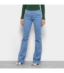 calça jeans forum flare boot cut feminina