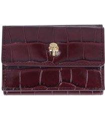 alexander mcqueen skull micro leather wallet