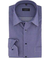eterna overhemd comfort fit blauw wit geruit