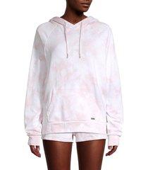 marc new york performance women's tie-dye hoodie - thistle - size s