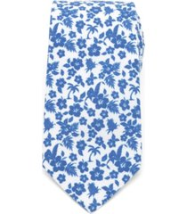 men's tropical blue tie
