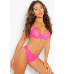 woman tape mesh brazilian, hot pink