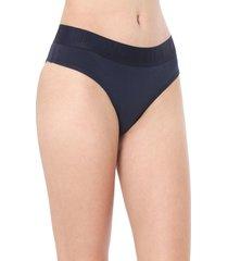 calcinha calvin klein underwear tanga lettering azul-marinho