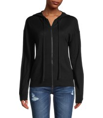 zadig & voltaire women's sixtine merino wool skull hoodie - black - size s