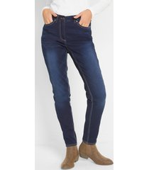 push up jeans met comfortband, slim