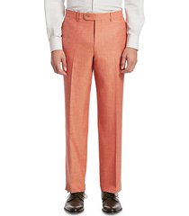 collection flat front trousers