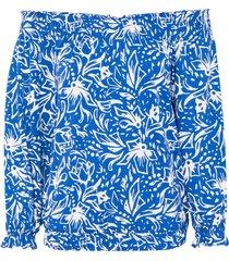 maglia con spalle scoperte in lenzing™ ecovero™ (blu) - rainbow