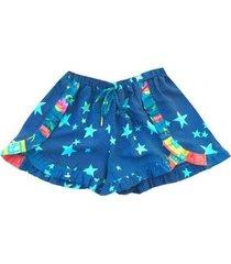 shorts infantil das meninas melbourne estrelas feminino