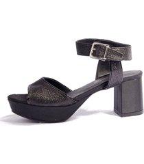 sandalia negra micheluzzi glitter