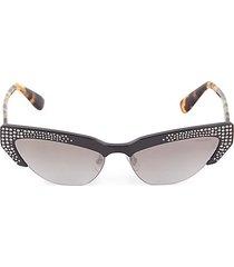 59mm cat eye rhinestone sunglasses