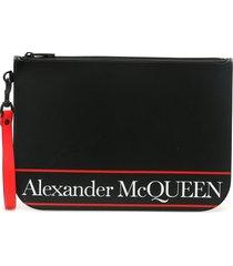 alexander mcqueen selvedge logo pouch