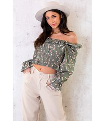 cropped blouse bloemen army