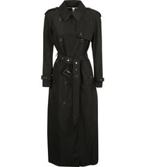 burberry long belted trench