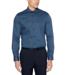 perry ellis men's regular-fit stretch paisley-print shirt