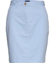 d1. classic chino skirt knälång kjol blå gant