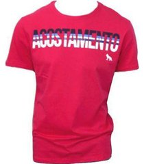 camiseta acostamento logo frontal masculina - masculino