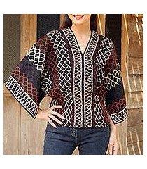 cotton blouse, 'lanna pride' (thailand)