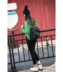 mochila de mujer, mochila de moda salvaje para mujer-negro