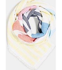 pañuelo logo algodón amarillo esprit