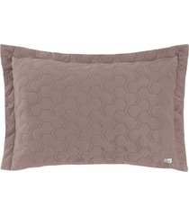 porta travesseiro altenburg boulevard velvet blush 50cm x 70cm – marrom marrom - tricae