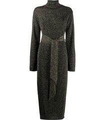 nanushka canaan cashmere-blend knit dress - black