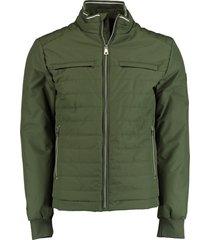 bos bright blue passetta puff jacket 20301ze05sb/368 olive
