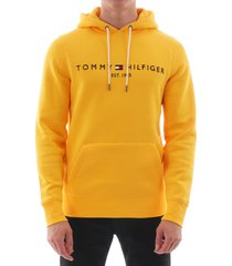 tommy logo hoodie - spectra yellow 11599-zcm