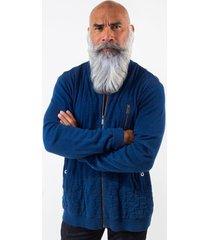 sweater amsterdenim - jacket - bennie - navy blue