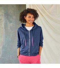 sundance catalog women's unwind hoodie in blueberry xs