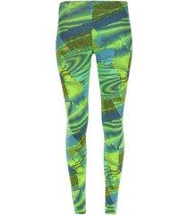 leggings sport a rayas verdes color verde, talla l