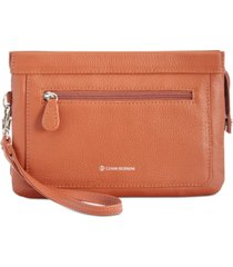 giani bernini softy leather crossbody wallet, created for macy's