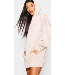 the perfect oversized hooded sweat dress, ecru